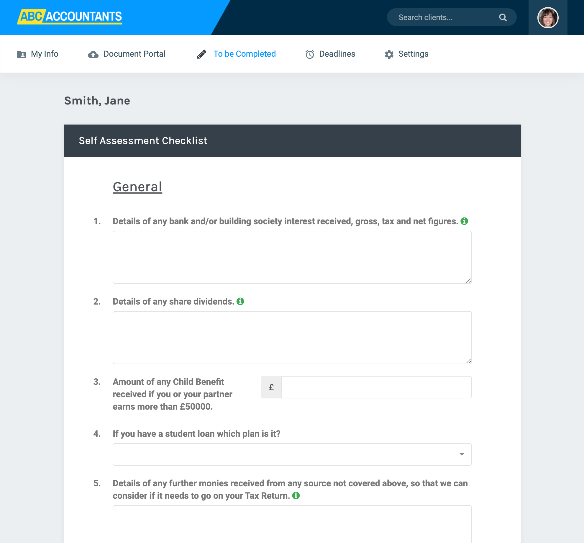 Share forms on the portal